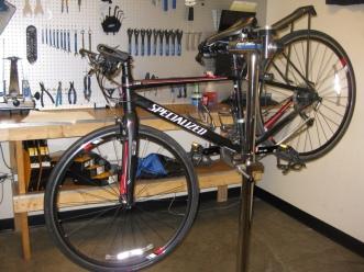 My bike ready for maintenance