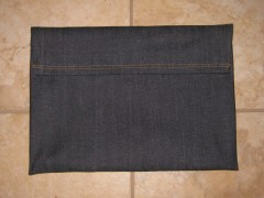 iPad Laptop case in Denim - closed trimmed