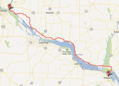 Day 1 - Prescott to Wabasha 56 miles