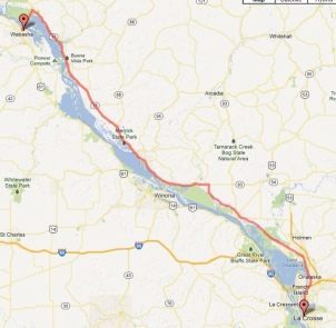 Day 2 - Wabasha to La Crosse 72 miles
