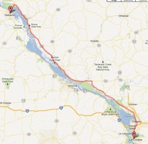 Day 2 - Wabasha to La Crosse 72 miles