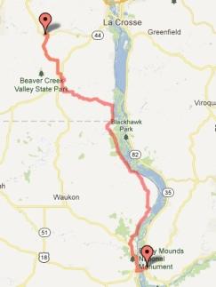 Day 4 - Prairie du Chien to Caledonia 62 miles