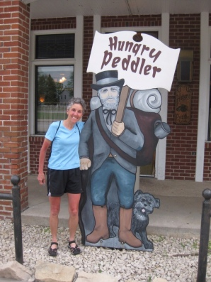 Molly at the Hungry Peddler restaurant
