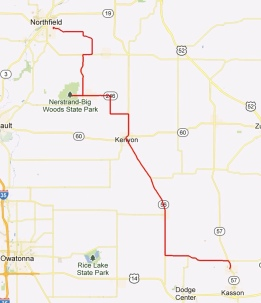 Day 7 - Mantorville to Northfield 47 miles