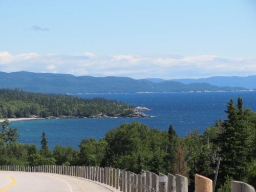 Beautiful view north of Pancake Bay
