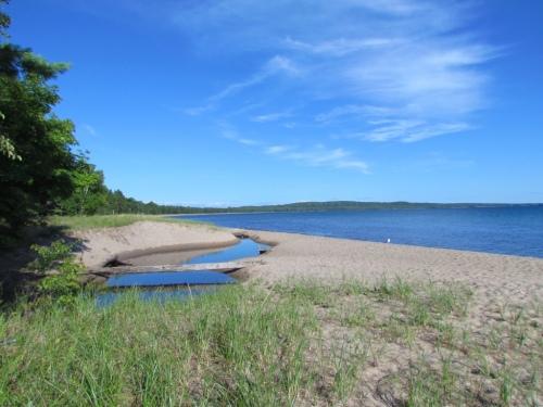 The beach at Pancake Bay