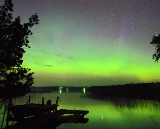 Northern Lights over North Star Lake