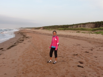 Walking the beach in the National Park