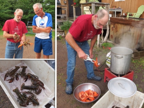 Cooking the lobster