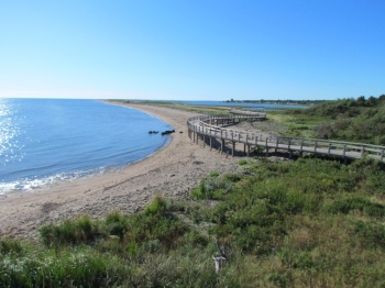 Boardwalk over the dunes at Bouctouche