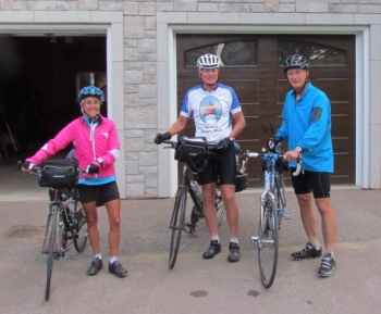 Charles accompanying us at the start of our ride in the morning