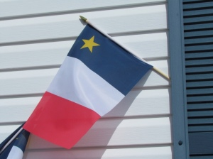 The Acadian flag