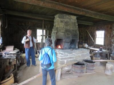 The blacksmith explains his work