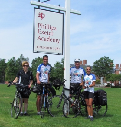 The cyclists - Myra, Carl, Rich and Molly