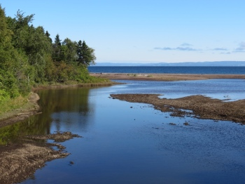 River flowing into Chaleur Bay