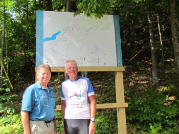 Guy and Rich at the Charlo XC trail map