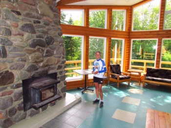 Molly in the Nordic Ski Chalet - Wow!