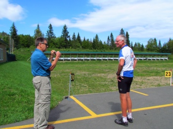Guy and Rich at the Biathlon range