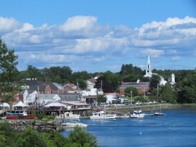 Harbor view at Damariscotta