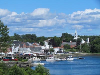 Harbor view at Damariscotta