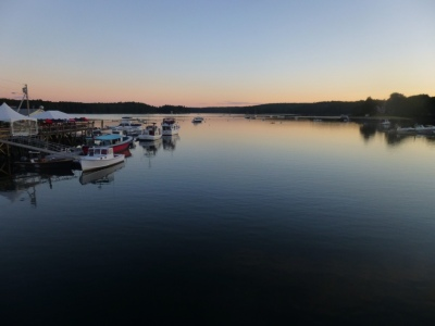 Sunset at Damariscotta