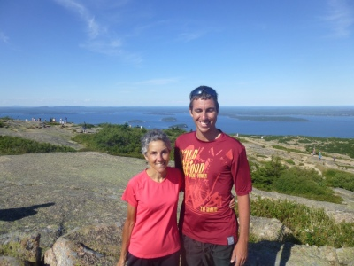 Molly and Carl at the top of Cadillac Mountain