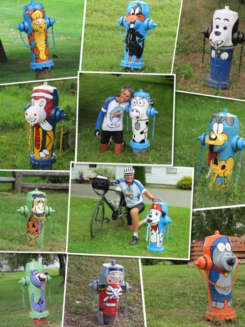 Humorous fire hydrants in New Carlisle
