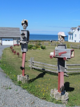 Whimsical mailbox and lantern