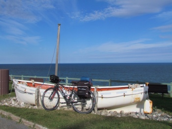 An old boat becomes a bike prop