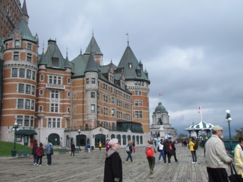 The plaza behind the Château Frontenac