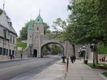 Old city walls of Quebec