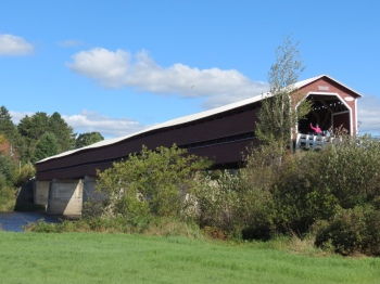 Covered bridge in Notre-Dame-des-Pins