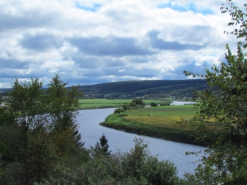 Chaudiere River winds through farmland
