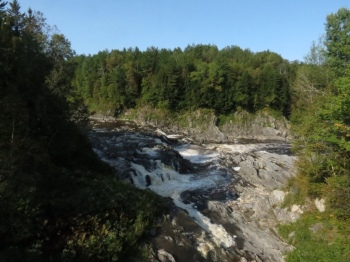 Waterfalls on the Chaudière River