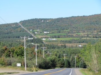 Hills in southern Quebec province