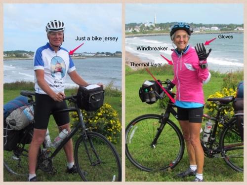 Variations in biking attire