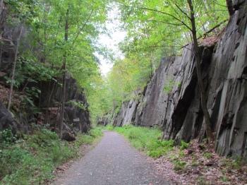 A rocky passage