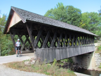 Covered bridge between Danbury and Andover