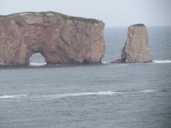 Close-up of Rocher--Percé