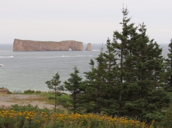 Our first view of Rocher-Percé