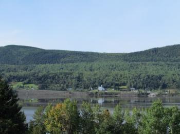 Scenic view across Gaspé Bay