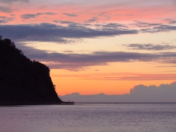 Sunset in Mont-Saint-Pierre