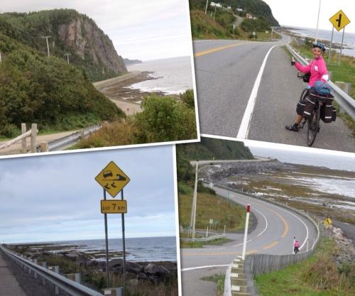 Views of the coastal road
