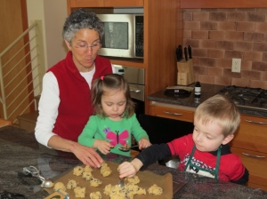 Making our favorite chocolate chip cookies