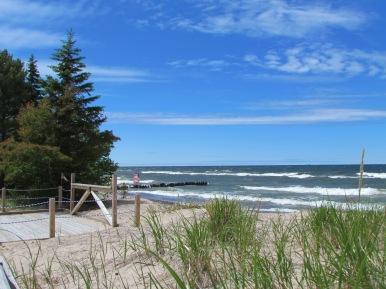 Sand dunes behind the beach