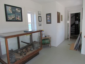 Displays in the Service Building attached to the lighthouse