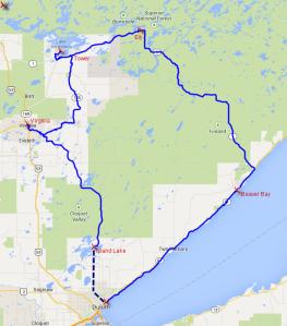 North Shore Tour Map
