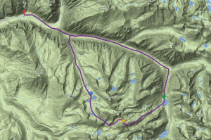 Mt. Brewer Map