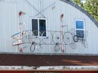Fish made of bike wheels