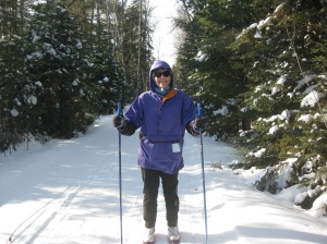 Susan on the Bearskin trails